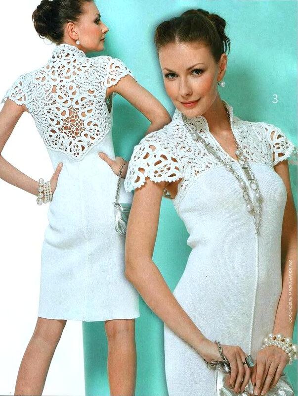 Платье с кружевом своими руками фото