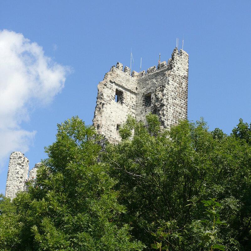 Развалины крепости Драхенфельс. Германия
