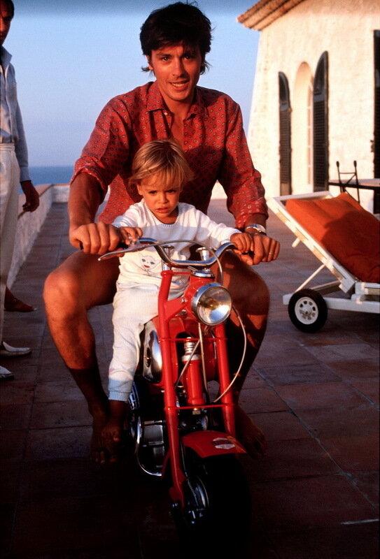 Ален Делон с сыном