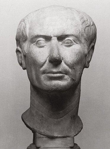 """Гай Юлий Цезарь (100-44 г.г. до н.э.). 1ый век до н.э. Возможно прижизненный бюст (единственный.).""""Tusculum bust"""" Gaius Julius Caesar"""