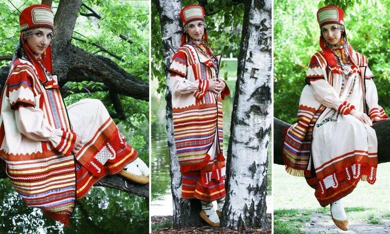 русский костюм Аллы Денисовой