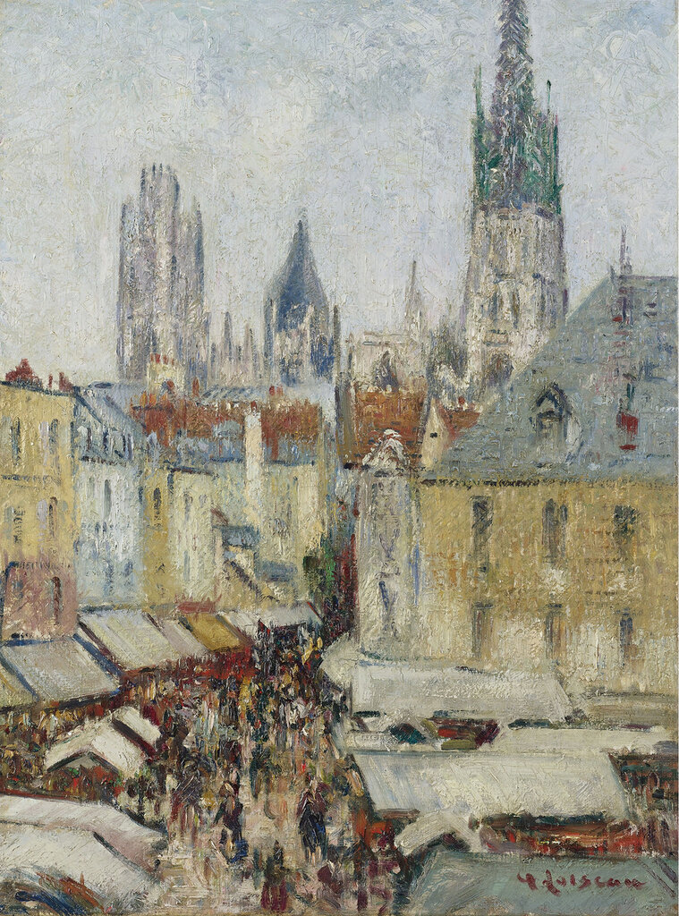 Gustave Loiseau - The Epicerie Street at Rouen, 1929.jpeg
