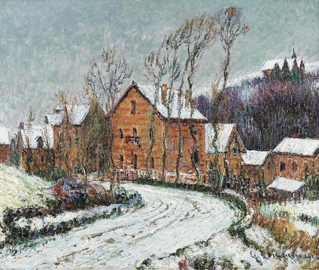 Gustave Loiseau - The Snow at Puys near Dieppe, 1904.jpeg