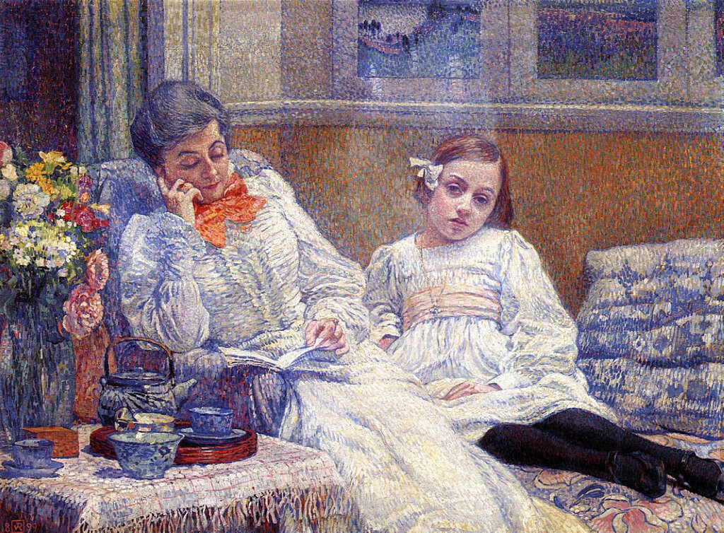 Madame Theo van Rysselberghe and Her Daughter, 1899.jpeg