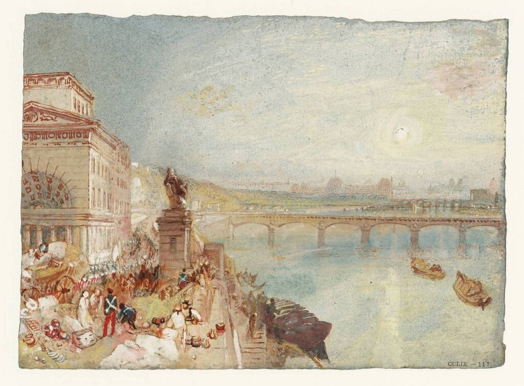 Paris from the BarriГЁre de Passy circa 1833 by Joseph Mallord William Turner 1775-1851