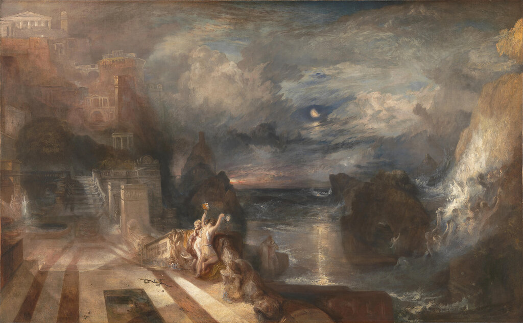 Full title: The Parting of Hero and Leander
