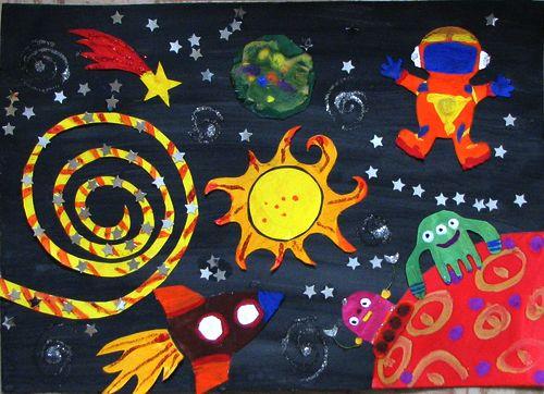 Космос тема рисунки