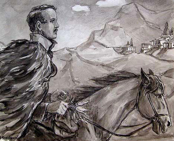 + А.П. Могилевский. Лермонтов на коне. 1964..jpg