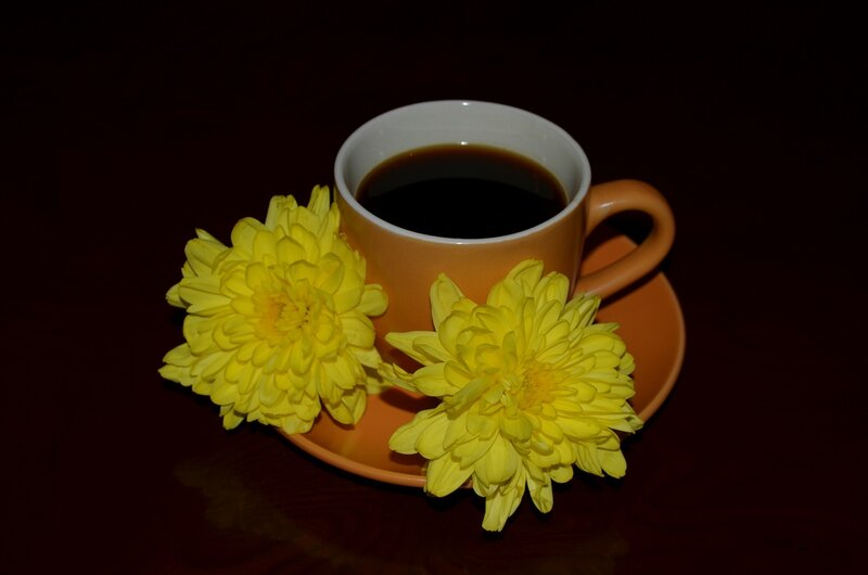 чашечка кофе в осенний денёк