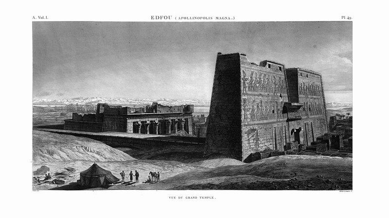 Храм Эдфу, вид на большой храм