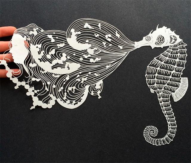 Картины из бумаги, вырезанные вручную (работы от Мод Уайт)