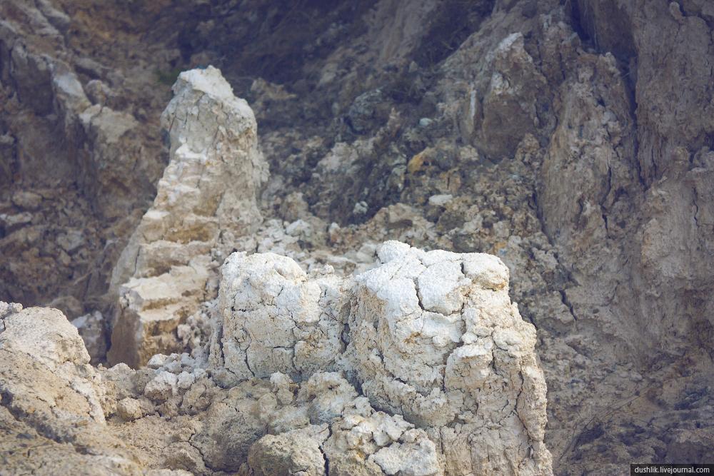 Глина на берегах Бали часто принимает причудливые формы (10.10.2014)