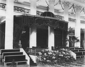 Императорская ложа в зале Дворянского собрания.