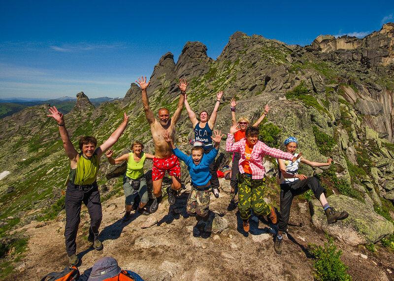 Туристы на перевале