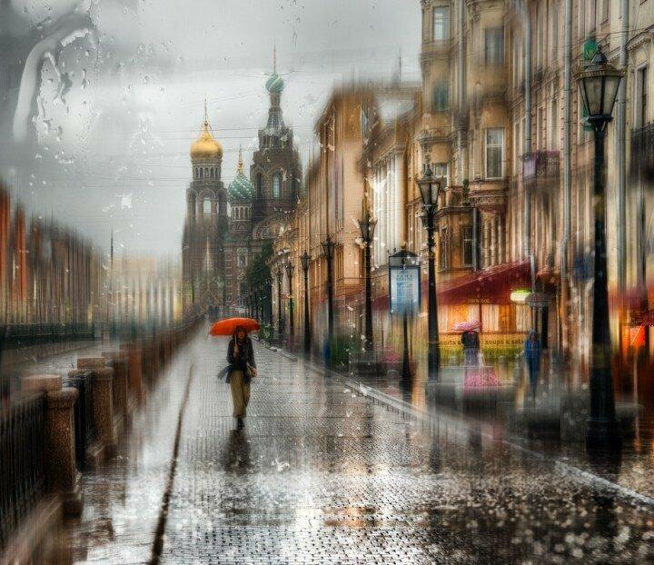 в фото дождь городе в