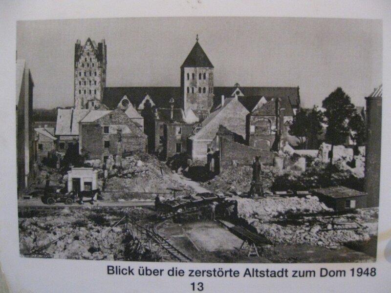Фотографии разрушения Кафедрального собора после Второй мировой войны