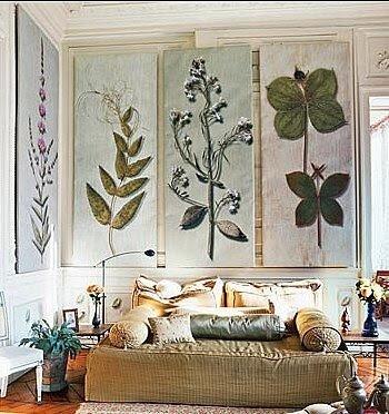 растительные мотивы в декоре