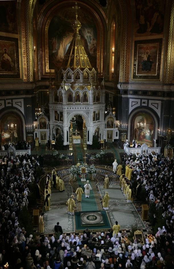 Светлый праздник Рождества Христова, Храм Христа Спасителя, Москва, 7 января 2010 года.