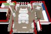 Интерьер. Два симметрично напротив друг-друга поставленных дивана у камина в гостиной. Обустройство и декор гостиной, иностранный интерьер, мебельный минимализм. Гармония прозрачных деревянных витражей в кирпичном загородном доме, компактной планировки.