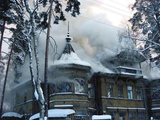 Сестрорецк пожар 3 января.