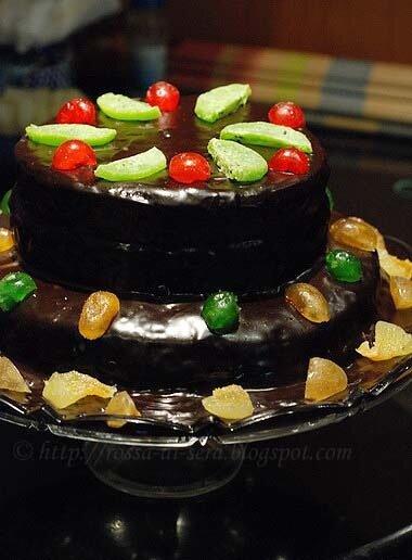 Rossa di sera torta di cioccolato a due piani per il mio for Cianografie a due piani