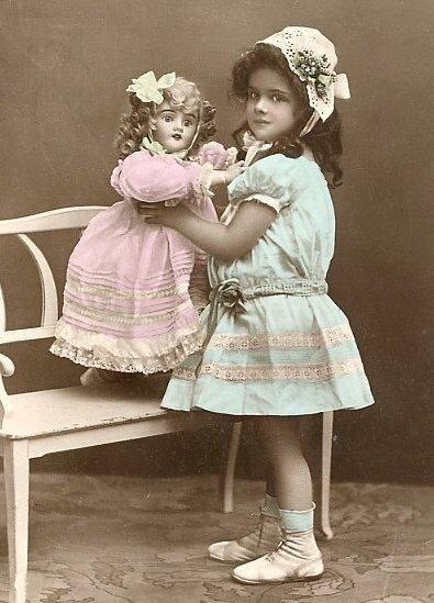 винтажные фото с 1908 по 1920 год.Дети с куклами