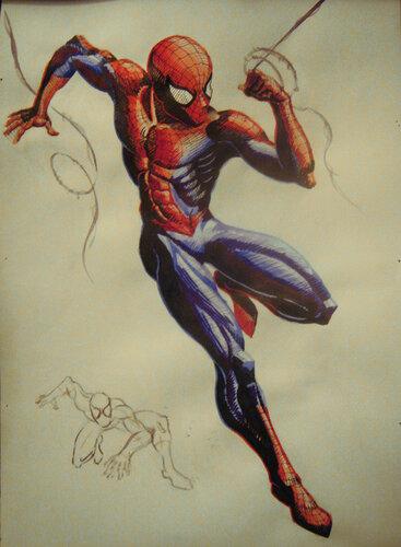 как рисовать человека паука: