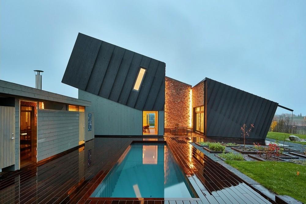 Экологичный и современный дом в Норвегии