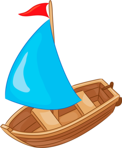 a boat with a sail