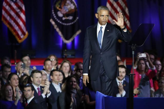 Обама вспомнил про КНР  и РФ  впрощальной речи