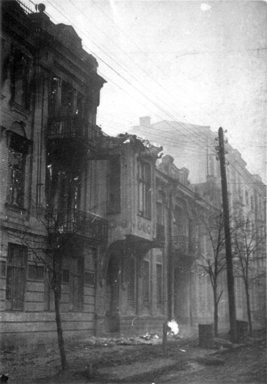 Улица Ленина в Виннице сразу после освобождения