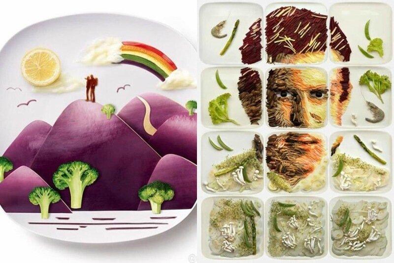 Рисунки из еды от Red (Хун И)