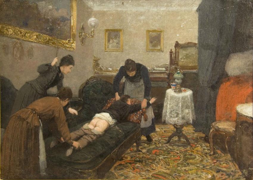 Павел Осипович Ковалевский. Порка. 1880 г