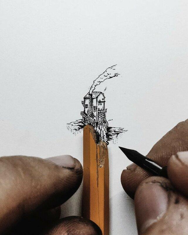 Крошечные рисунки от Christian Watson