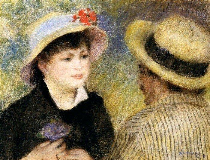 Огюст Ренуар. Разговор в лодке (Ренуар и Алина Шариго), 1880-1881