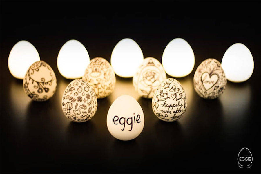 Egg-Shaped Portable Wireless Lamp