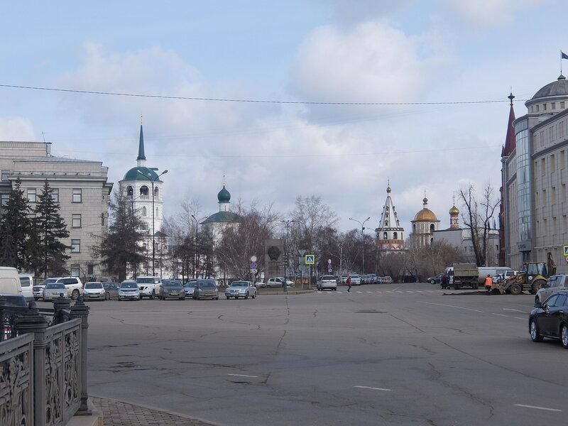 Иркутск - Вид на набережную со стороны сквера Кирова