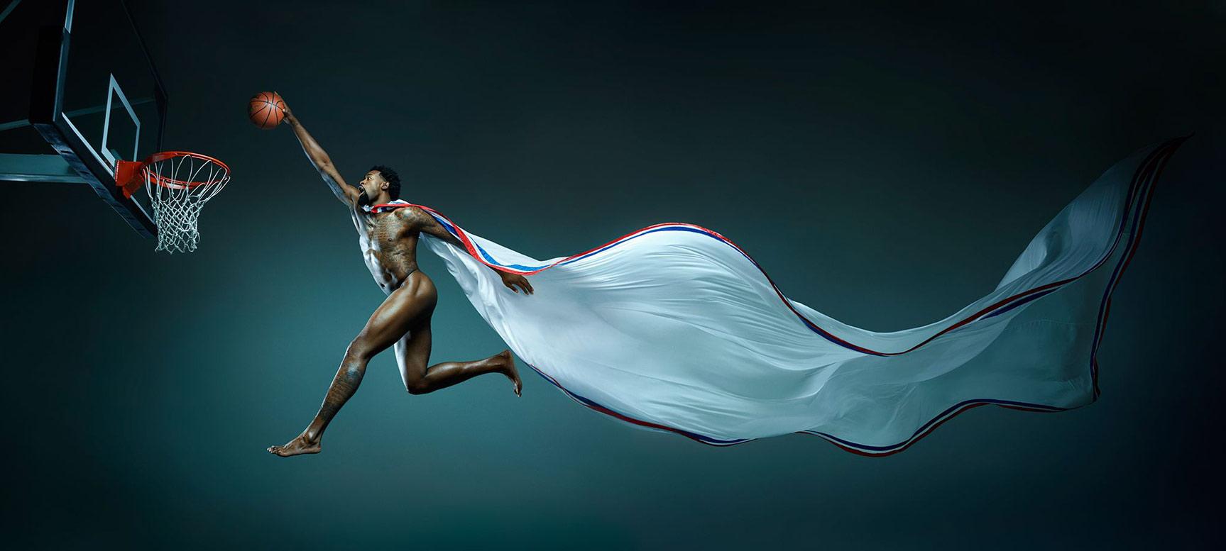 ESPN Magazine The Body Issue 2015 - DeAndre Jordan / ДеАндре Джордан - Культ тела журнала ESPN