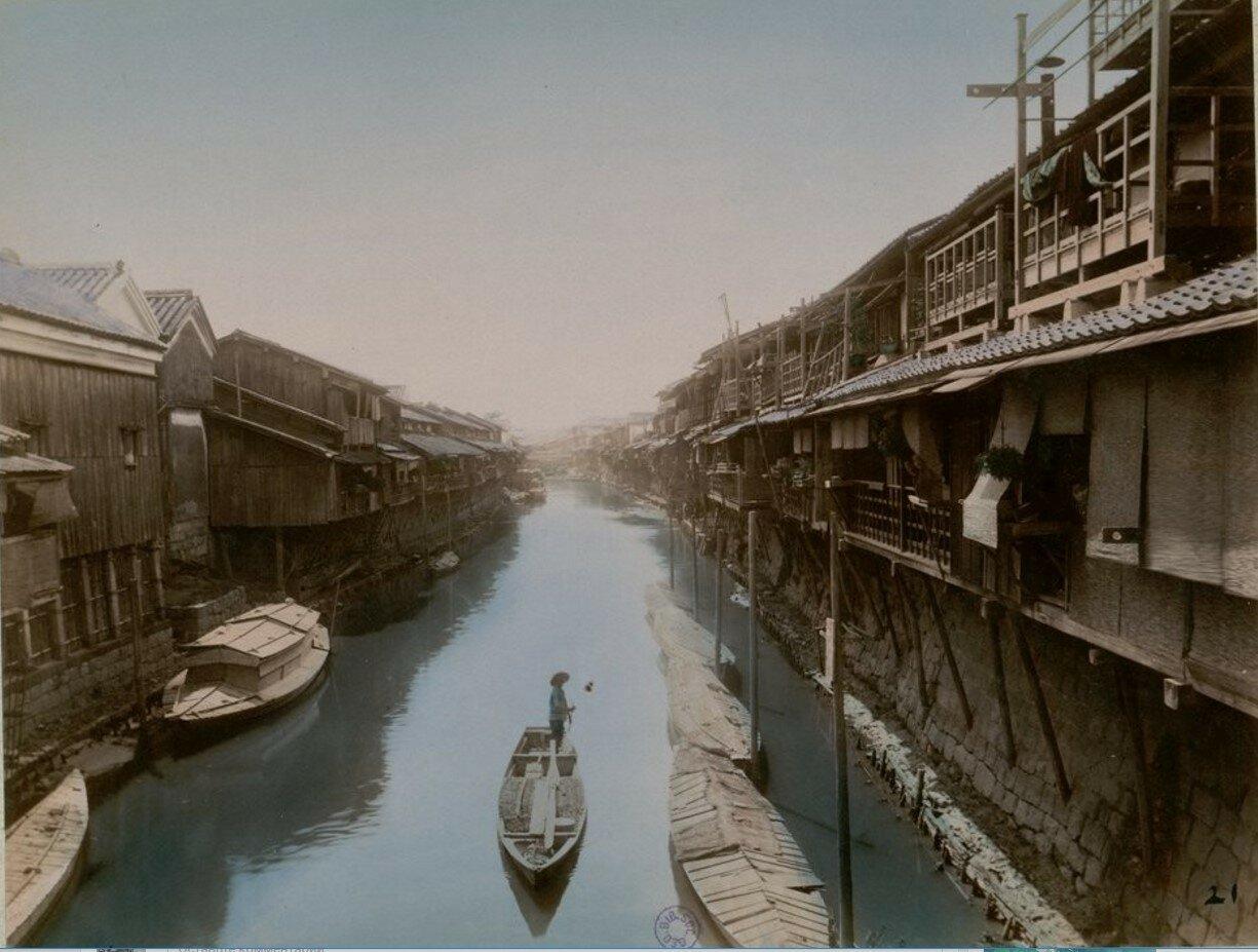 Осака. Река Дотонбори