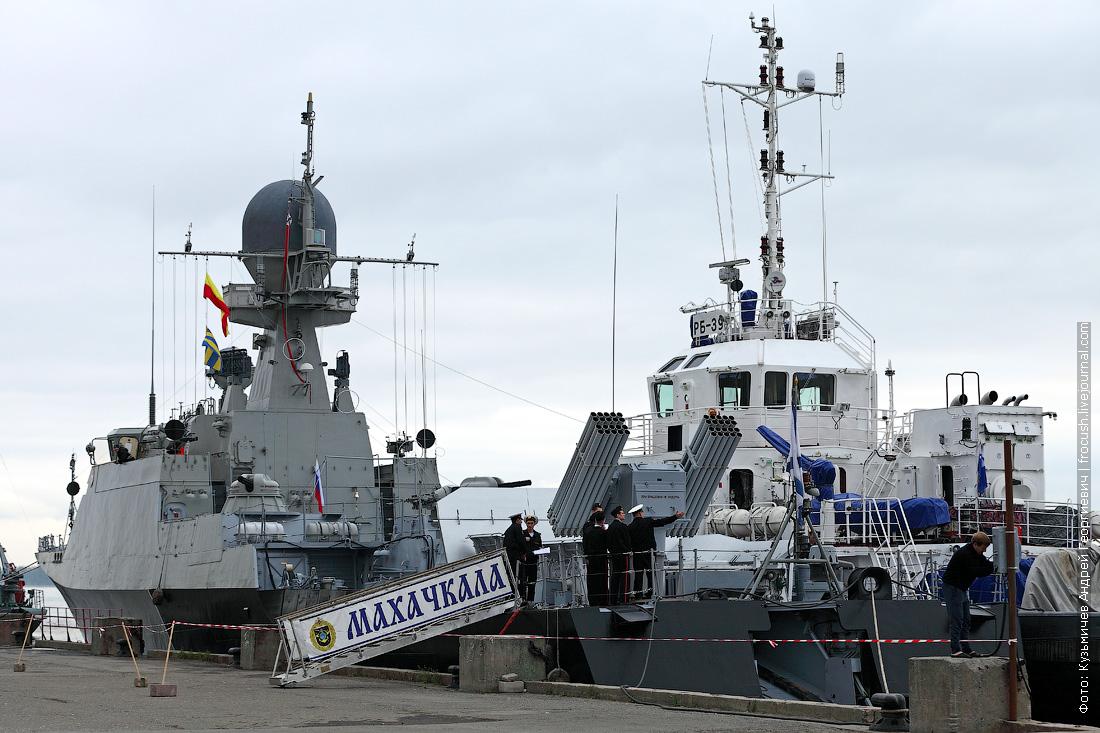 корабли Каспийской флотилии на праздновании 70-летия Победы в Волгограде