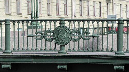 Фрагмент ограды Вознесенского моста