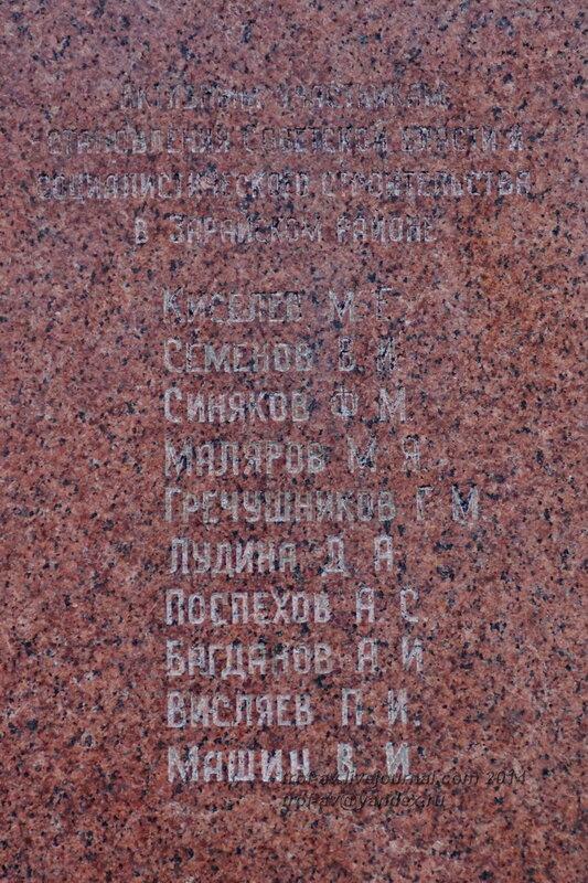 Захоронения у Зарайского кремля