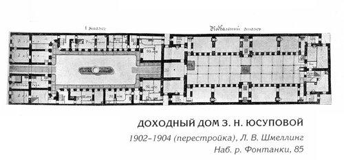 Доходный дом З.Н. Юсуповой в Петербурге, план
