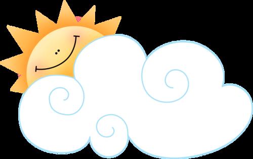 солнце, облака