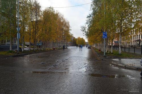 Фотография Инты №7225  Перекрёсток улиц Чернова и Горького 16.09.2014_11:50
