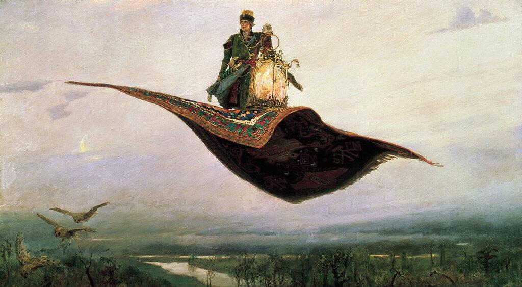 1041.Vasnecov.Viktor.Kovier-samoliet.1880.holst.maslo.jpg