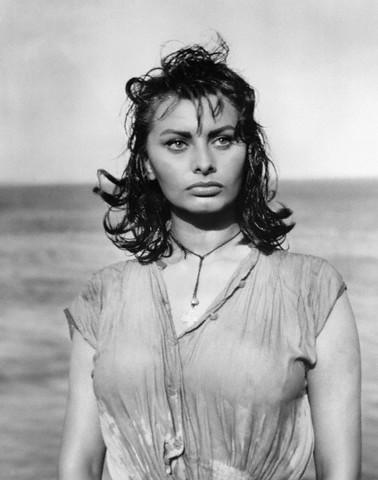 Actress Sophia Loren in Boy on a Dolphin
