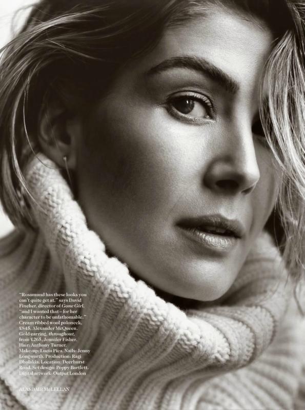 Розамунд Пайк в фотосессии Vogue UK (октябрь 2014)