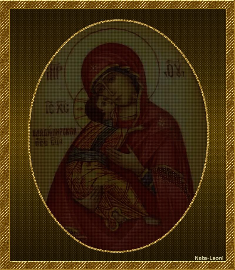 Владимирская икона Божьей Матери +материал