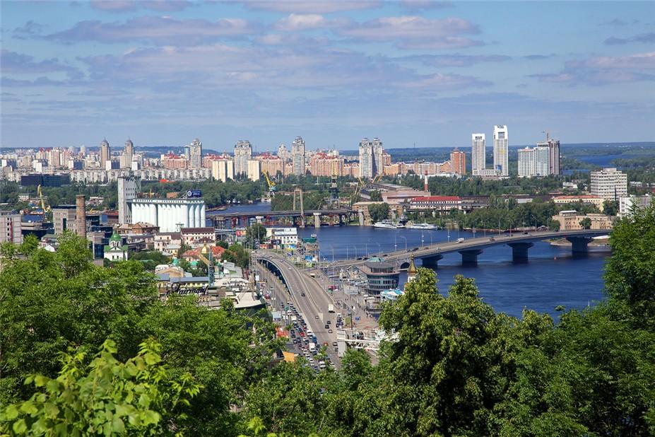 Украина - вид на Киев